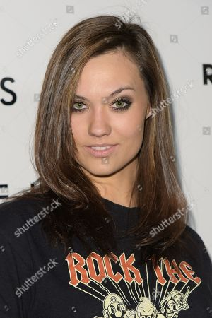 """Laura James arrives at the LA Premiere of """"The Last Five Years"""", in Los Angeles"""