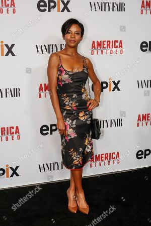 "Aasha Davis arrives at the LA Premiere of ""America Divided"" at The Billy Wilder Theater, in Westwood, Calif"