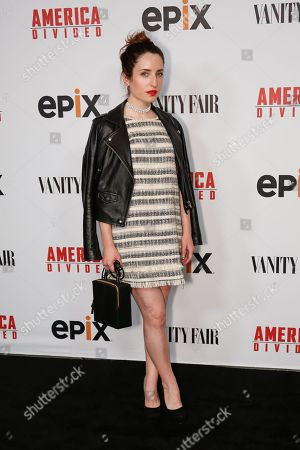 "Zoe Lister Jones arrives at the LA Premiere of ""America Divided"" at The Billy Wilder Theater, in Westwood, Calif"