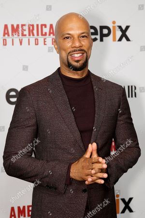 "Stock Picture of Hip Hop artist Common arrives at the LA Premiere of ""America Divided"" at The Billy Wilder Theater, in Westwood, Calif"