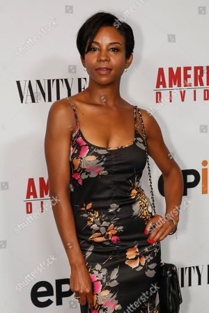 "Aasha Davis arrives at the LA Premiere of ""America Divided"" at The Billy Wilder Theater, in Los Angeles"
