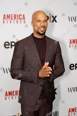 "Hip Hop artist Common arrives at the LA Premiere of ""America Divided"" at The Billy Wilder Theater, in Westwood, Calif"