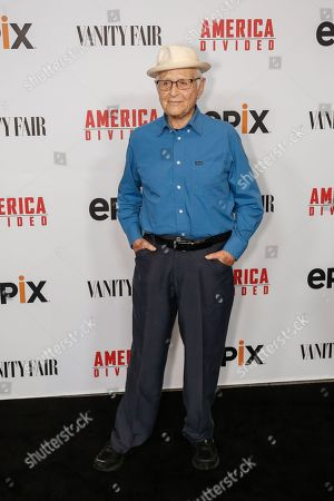 "Norman Lear arrives at the LA Premiere of ""America Divided"" at The Billy Wilder Theater, in Westwood, Calif"