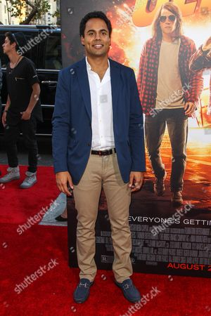 """Stock Photo of Raj Brinder Singh attends the Los Angeles premiere of """"American Ultra"""" at the Ace Hotel on"""