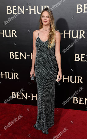 "Model Shannan Click poses at the premiere of the film ""Ben-Hur"" at the TCL Chinese Theatre IMAX, in Los Angeles"