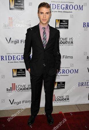 "Shane Bitney Crone arrives at the Premiere of ""Bridegroom"" at The Samuel Goldwyn Theatre on in Beverly Hills, Calif"
