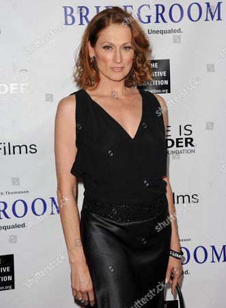 """Nancy La Scala arrives at the Premiere of """"Bridegroom"""" at The Samuel Goldwyn Theatre on in Beverly Hills, Calif"""