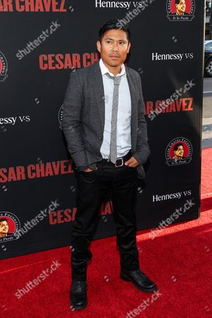 Stock Picture of Darian Basco attends the premiere of Pantelion Films and Participant Media's 'Cesar Chavez' at TCL Chinese Theatre on in Los Angeles