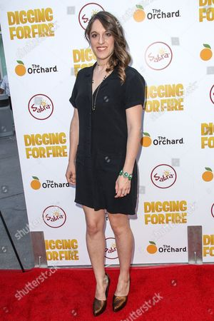 Alicia Van Couvering attends the premiere of 'Digging for Fire' at the Arclight Cinema on in Los Angeles