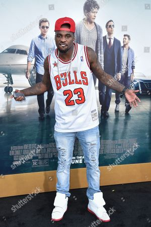 """Ty Lawson arrives at the LA Premiere Of """"Entourage"""" at the Regency Village Theatre, in Los Angeles"""