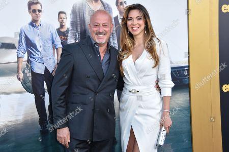 "Domenico Vacca, left and Eleonora Pieroni arrive at the LA Premiere Of ""Entourage"" at the Regency Village Theatre, in Los Angeles"