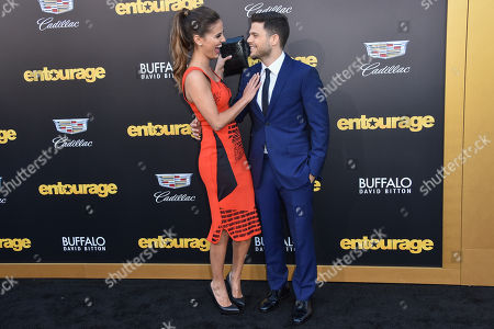 "Jerry Ferrara, left and Breanne Racano arrivesat the LA Premiere Of ""Entourage"" at the Regency Village Theatre, in Los Angeles"