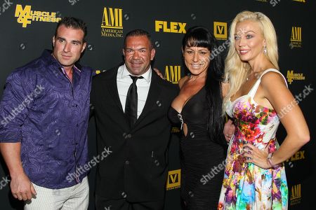 "From left, bodybuilder Kagan Yalaman, Mehmet Yildirim, Kim Yildirim and actress Liz Fuller arrive at the premiere of ""Generation Iron"" at the Chinese 6 Theatres on in Los Angeles"