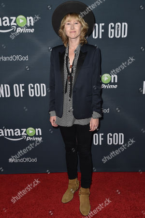 """Stock Image of Krystal Simpson arrives at the Premiere of """"Hand of God"""" held at the Ace Hotel, in Los Angeles"""