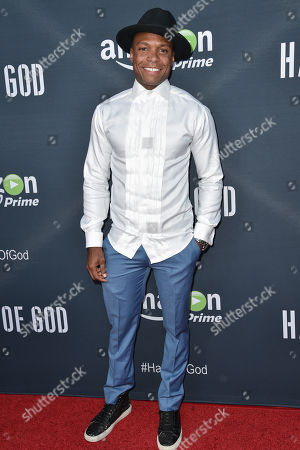 "Ben Cory Jones arrives at the Premiere of ""Hand of God"" held at the Ace Hotel, in Los Angeles"