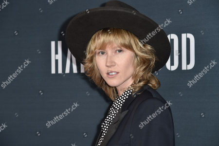"""Krystal Simpson arrives at the Premiere of """"Hand of God"""" held at the Ace Hotel, in Los Angeles"""