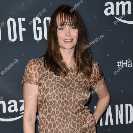"""Stock Image of Sprague Grayden arrives at the Premiere of """"Hand of God"""" held at the Ace Hotel, in Los Angeles"""