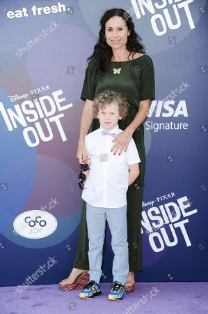 """Actress Minnie Driver and son Henry Story Driver arrive at the LA Premiere Of """"Inside Out"""" held at the El Capitan Theatre, in Los Angeles"""