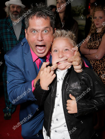 "Director/producer Jeff Tremaine and actor Jackson Nicoll attend the premiere of ""Jackass Presents Bad Grandpa"" at the TCL Chinese Theatre on in Los Angeles"
