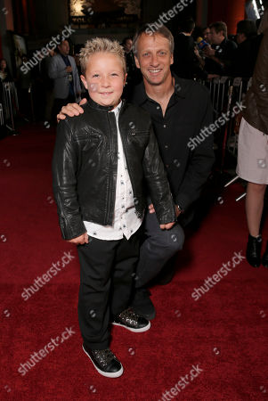 "Jackson Nicoll and Tony Hawk attend the premiere of ""Jackass Presents Bad Grandpa"" at the TCL Chinese Theatre on in Los Angeles"