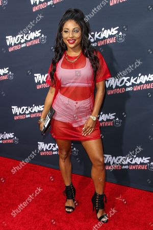 Candice Craig attends the premiere of 'Janoskians: Untold and Untrue' at Bruin Theatre, in Los Angeles