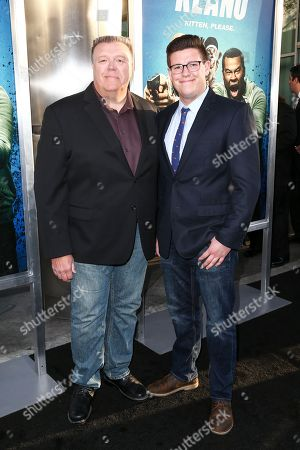 "Joel McKinnon Miller, left, and Owen Miller attend the LA Premiere of ""Keanu"" held at ArcLight Cinerama Dome Theater, in Los Angeles"