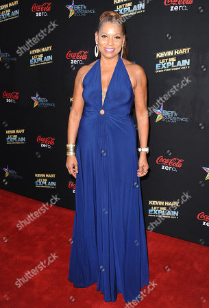 """Stock Photo of Rolanda Watts arrives at the LA premiere of """"Kevin Hart: Let Me Explain"""" at the Regal Cinemas at L.A. Live on in Los Angeles"""
