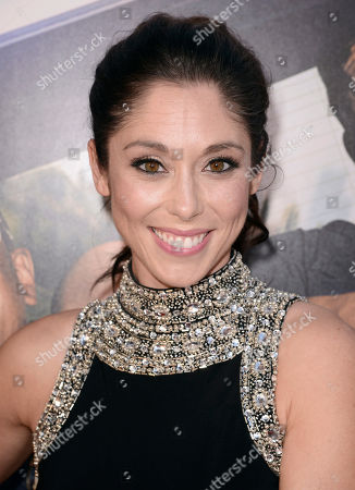 "Stock Image of Jessica Luza arrives at the Los Angeles premiere of ""Let's Be Cops"" at the Cinerama Dome on"