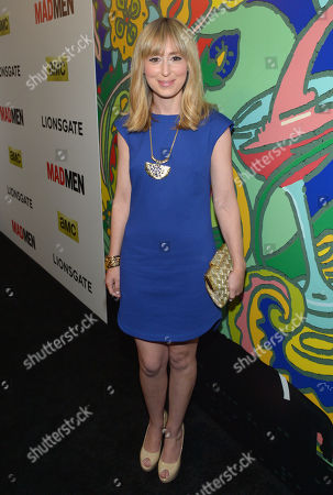 """Stephanie Drake arrives at the LA premiere of """"Mad Men"""" season 7, in Los Angeles"""