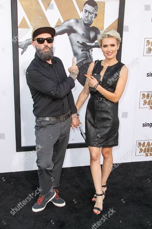 """Fred Durst and Kseniya Beryazina arrive at the Los Angeles premiere of """"Magic Mike XXL"""" at the TCL Chinese Theatre on"""