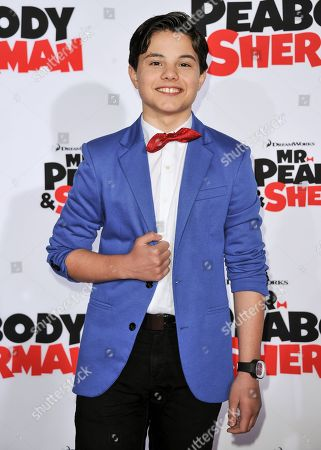 "Zach Callison arrives at the LA Premiere of ""Mr. Peabody & Sherman"" on in Los Angeles"