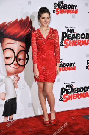 """Madison McLaughlin arrives at the LA Premiere of """"Mr. Peabody & Sherman"""" on in Los Angeles"""