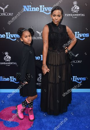 """Kennedy Carter and Sundy Carter arrive at the LA premiere of """"Nine Lives"""" at TCL Chinese Theatre, in Los Angeles"""