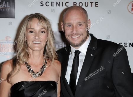 """Colleen Goetz, left, and Michael Goetz arrive at the premiere of """"Scenic Route"""" at the Chinese 6 Theater on in Los Angeles"""