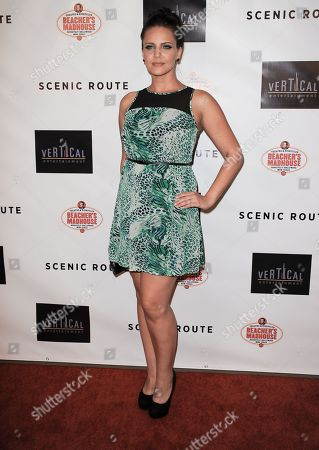 """Miracle Laurie arrives at the premiere of """"Scenic Route"""" at the Chinese 6 Theater on in Los Angeles"""