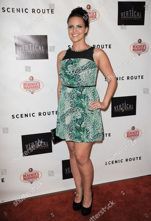 """Stock Photo of Miracle Laurie arrives at the premiere of """"Scenic Route"""" at the Chinese 6 Theater on in Los Angeles"""