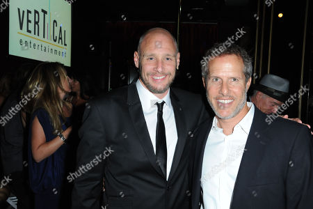 "Kevin Goetz, at left, and Rich Goldberg attends the afterparty for the premiere of ""Scenic Route"" at Beacher's Madhouse on in Los Angeles"