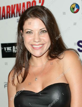 """Tiffany Shepis seen at Sharknado 2: The Second One"""" at Regal Cinema at L.A. Live Theatre on in Los Angeles, California"""