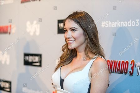 "Blair Fowler attends the ""Sharknado 3: Oh Hell No!"" premiere at iPic Theaters Westwood on in Los Angeles"