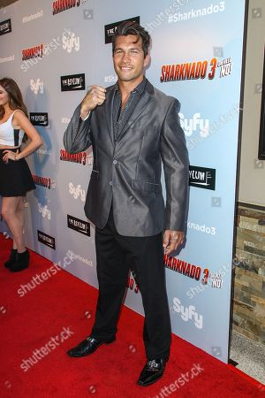 """Stock Picture of Marcus Shirock attends the """"Sharknado 3: Oh Hell No!"""" premiere at iPic Theaters Westwood on in Los Angeles"""