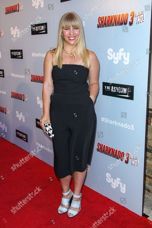 """Sara Coates attends the """"Sharknado 3: Oh Hell No!"""" premiere at iPic Theaters Westwood on in Los Angeles"""