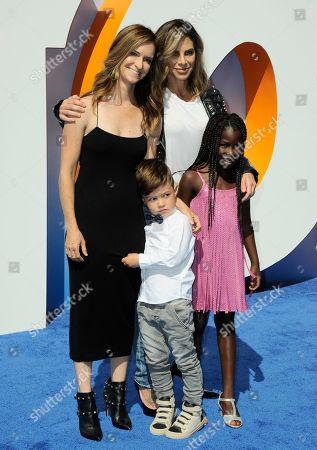 """Heidi Rhoades, Jillian Michaels, Phoenix Michaels Rhoades and Lukensia Michaels Rhoades arrive at the LA premiere of """"Storks"""" on in Westwood, Calif"""