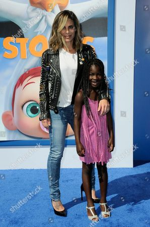 """Stock Picture of Jillian Michaels and Lukensia Michaels Rhoades arrive at the LA premiere of """"Storks"""" on in Westwood, Calif"""