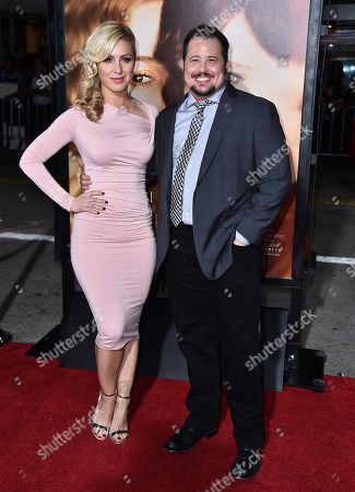 """Chaz Bono, right and guest arrive at the premiere of """"The Danish Girl"""" at Regency Village Theatre on in Los Angeles"""
