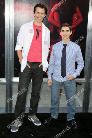 """Stock Picture of Travis Cluff, left, and Chris Lofing arrive at the LA Premiere of """"The Gallows"""" at Hollywood High School on in Los Angeles"""