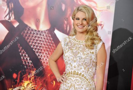"Stephanie Leigh Schlund arrives at the Los Angeles premiere of ""The Hunger Games: Catching Fire"" at Nokia Theatre LA Live on"