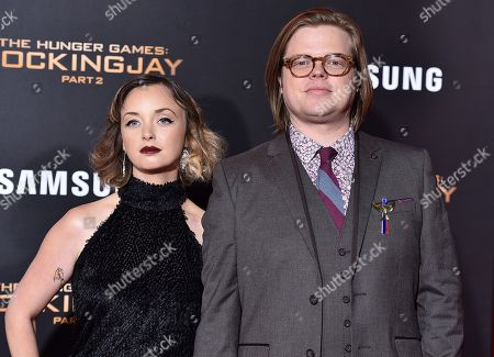 """Kira Sternbach, left, and Elden Henson attend the Los Angeles premiere of """"The Hunger Games: Mockingjay - Part 2"""" at the Microsoft Theater on"""