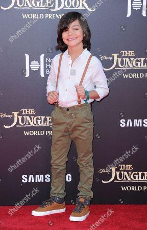 "Malachi Barton arrives at the premiere of ""The Jungle Book"" at the El Capitan Theatre, in Los Angeles"