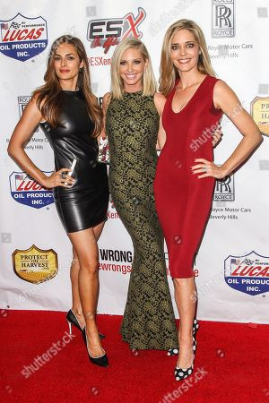 """From left, Lisa Russell, Ashley Michaelsen, and Christina Moore, attend the premiere of """"The Wrong Side of Right"""" at the TCL Chinese Theater, in Los Angeles"""