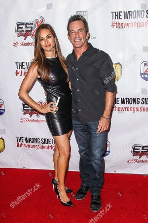 """Lisa Russell and Jeff Probst attend the premiere of """"The Wrong Side of Right"""" at the TCL Chinese Theater, in Los Angeles"""